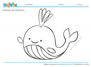 ballenas para pintar