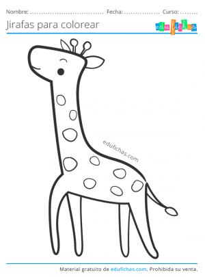 colorear jirafas gratis