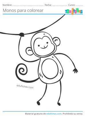 colorear dibujos de monos