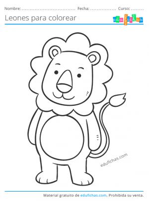 dibujo de un león