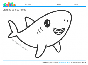 dibujo kawaii de tiburon