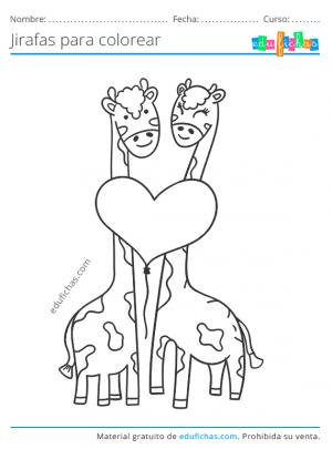 dibujos bonitos de jirafas