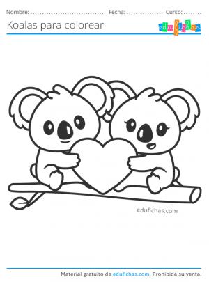 dibujos bonitos de koalas