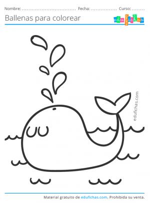 dibujos para colorear de ballenas gratis