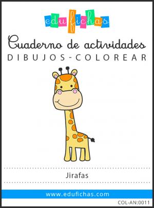 dibujos de jirafas pdf