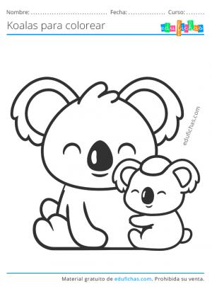 dibujos de koalas