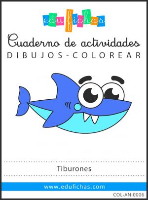 dibujos de tiburones pdf