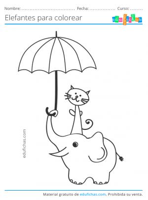 dibujos divertidos de elefantes