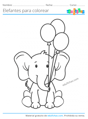dibujos de elefantes para niños