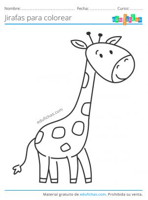 dibujos para imprimir de jirafas