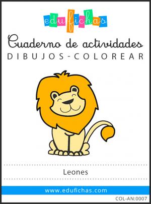 dibujos de leones pdf