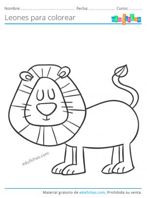 dibujos para imprimir de leones