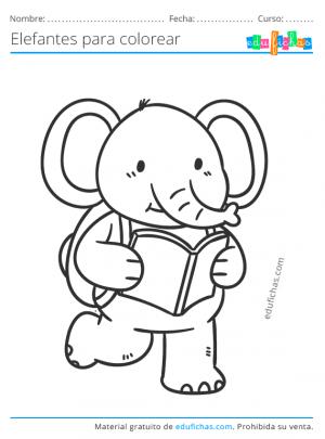 dibujos para imprimir de elefantes