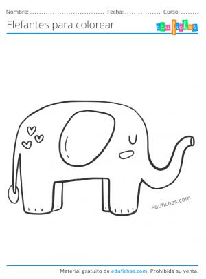 elefantes para imprimir