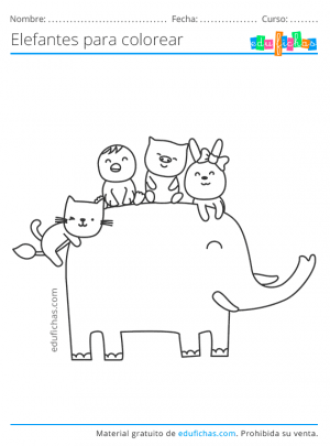elefantes para pintar