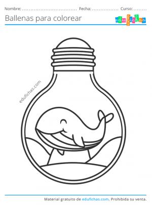 imprimir dibujos de ballenas