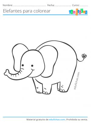imprimir dibujos de elefantes