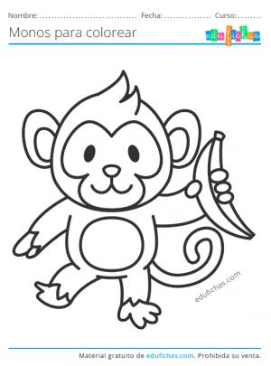 imprimir dibujos de monos