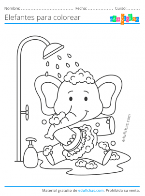 imprimir elefantes para niños