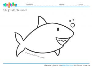 imprimir tiburones