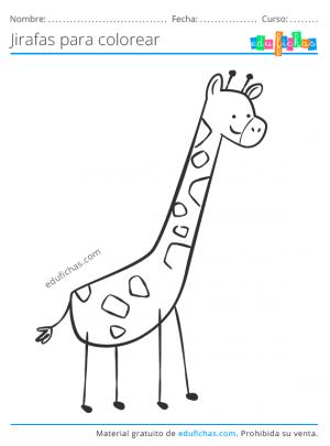 jirafas para niños