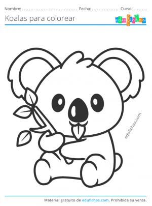 koalas colorear para niños