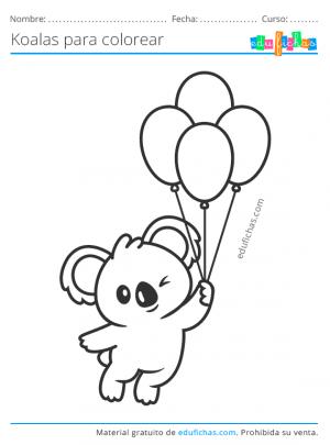 dibujos de koalas divertidos