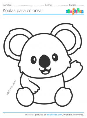 koalas para colorear