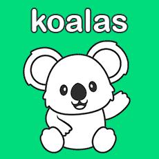 dibujos de koalas para pintar