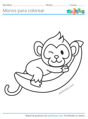 monos para pintar gratis