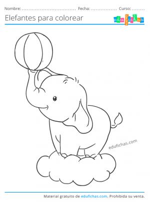 pdf dibujos de elefantes gratis
