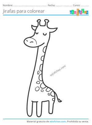 pintar dibujos de jirafas
