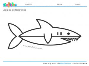 tiburones para imprimir