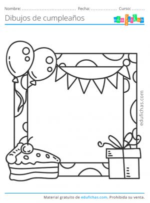 cumpleaños para colorear fotos
