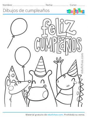 dibujo feliz cumpleaños