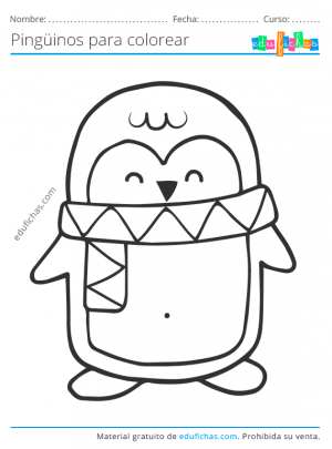 dibujos para colorear de pinguinos
