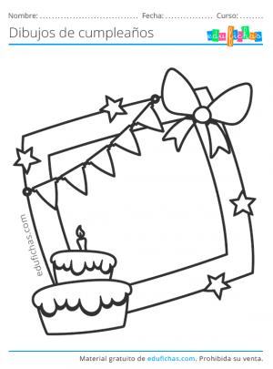 dibujos de cumpleaños de marcos para fotos