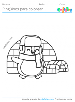 dibujos para pingüinos para imprimir