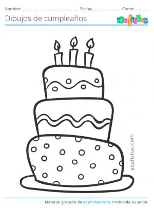 dibujos de tartas