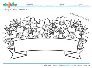 dibujos de flores de primavera gratis