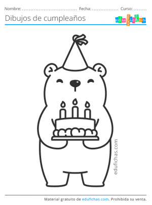 dibujos kawaii de cumpleaños