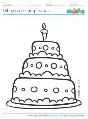 dibujos de tartas de cumpleaños