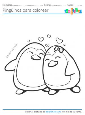 imprimir dibujos de pingüinos
