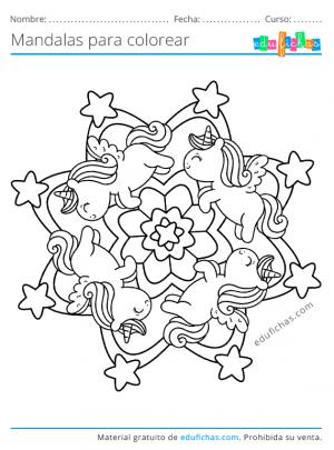 mandala de unicornios