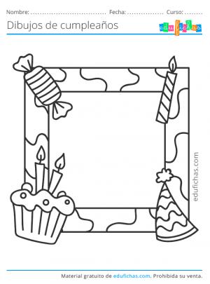 marco para colorear de invitados