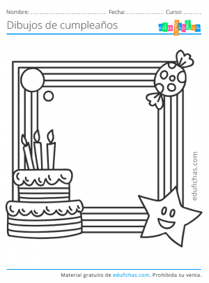 marcos de cumpleaños para colorear