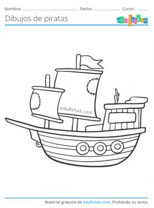 barco pirata para imprimir