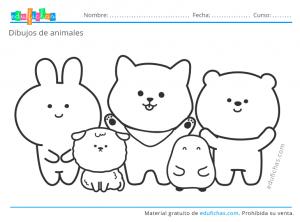 colorear dibujos de animales