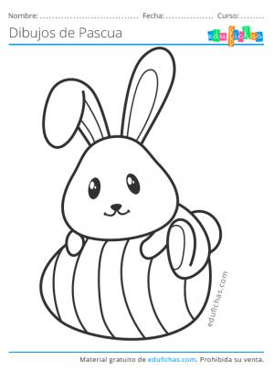 dibujo del conejo de pascua