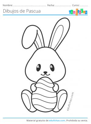 dibujos bonitos de pascua para niños